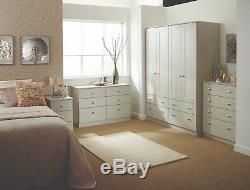 Ready Assembled Albany Cream Wardrobe Drawers Complete Bedroom Furniture Set