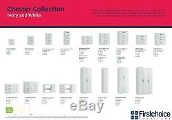 Ready Assembled Chester Ivory Wardrobe Drawers Complete Bedroom Furniture Set