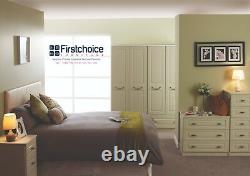 Ready Assembled Florence Ivory Wardrobe Drawers Complete Bedroom Furniture Set