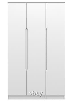 Ready Assembled Quality White High Gloss Wardrobes Chests Deep Drawers Bedsides