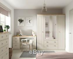 Ready Assembled Venice Cashmere Wardrobe Drawers Complete Bedroom Furniture Set