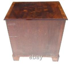 Reproduction Yew Bachelors Chest of Drawers Desk ANTIQUE QUEEN ANN STYLE