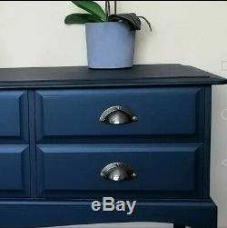 Shabby Chic Stag Minstrel Hand Sprayed Console, Desk, Sideboard, 6 Drawer Chest