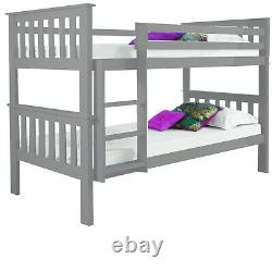 Single Sleeper Bunk Bed Wooden Childrens Bunk Bed With Desk or Drawer Chest