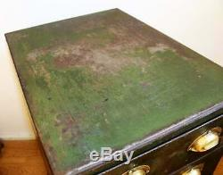 Six draw steel filing cabinet box desk metal chest of drawer industrial vintage