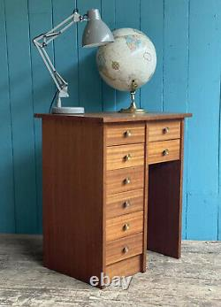 Small Teak RETRO MID CENTURY CHEST OF DRAWERS Bedside Desk DELIVERY