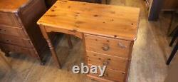 Solid pine desk bedside table dressing cabinet chest of drawers