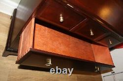 Stag Minstral Mahogany Solid Wood Traditional Bureau DESK CHEST 5 DRAWERS GREAT