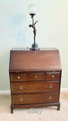 Stag Minstrel Bureau Writing Desk Vintage Mahogany Furniture Chest Of Drawers