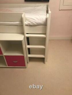 Stompa Girls Cabin Bed With Chest Of Drawers, Bookcase And Desk