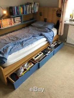 Three Piece Bedroom suite for teenager including bed, desk, chest of drawers
