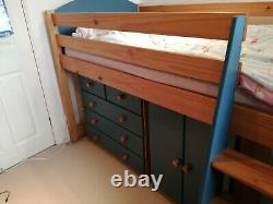 Verona' Mid Sleeper Bed with desk/shelf/chest of drawers/cupboard