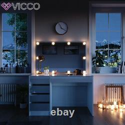 Vicco dressing table Sherry white vanity desk console 5 drawers chest of drawers