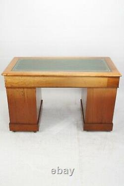 Victorian Mahogany Pedestal Desk Antique Captains Writing Table Chest Drawers
