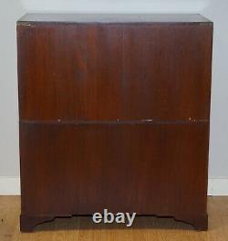 Vintage Military Campaign Chest Of Drawers Secretary Desk Key Included