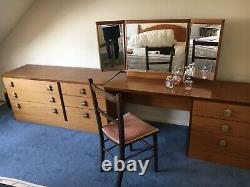 Vintage Stag Mid Century Desk/sideboard + Chest Of Drawers