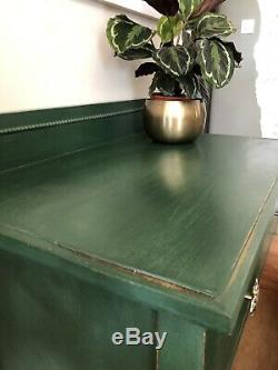 Vintage Wooden Chest With Drawers