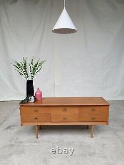 Vtg Mid Century Compact Sideboard Chest Of Drawers Dressing Table Retro #588