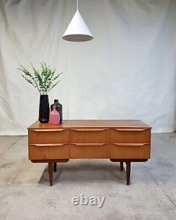 Vtg Mid Century Compact Sideboard Chest Of Drawers Dressing Table Retro #999