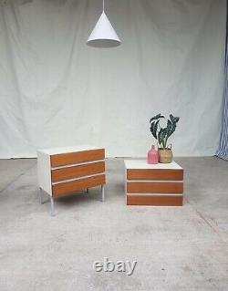 Vtg Mid Century Stag Opus Walter Muller 22 Set Pair Of 2 Chest Drawers #600