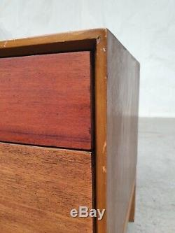 Vtg Mid Century Stag Walnut Low Sideboard Chest Of Drawers Media Unit Retro #362