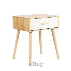 Wooden Bedside Table Cabinet Storage Nightstand Chest of Drawers Lamp Desk